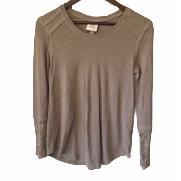 Women's Knox Rose Tan Lace Boho Sweater